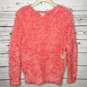 Forever 21 Los Angeles Fuzzy Long Sleeve Sweater